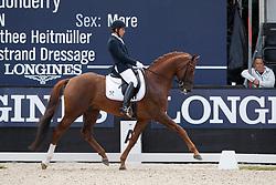 Jurado Lopez Severo Jesus, ESP, D Avie<br /> Longines FEI/WBFSH World Breeding Dressage Championships for Young Horses - Ermelo 2017<br /> © Hippo Foto - Dirk Caremans<br /> 04/08/2017