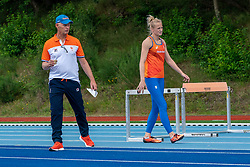 Ronald and Anouk Vetter in action during the Press presentation of the olympic team Athletics on July 8, 2021 in Papendal Arnhem