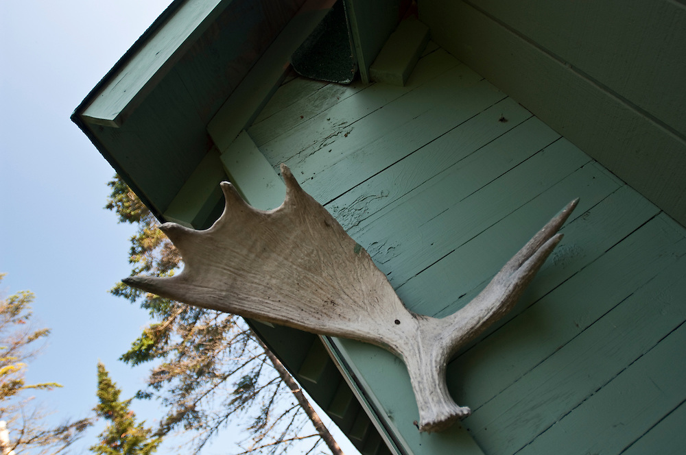 Details of buildings at an old fishing camp at Isle Royale National Park.