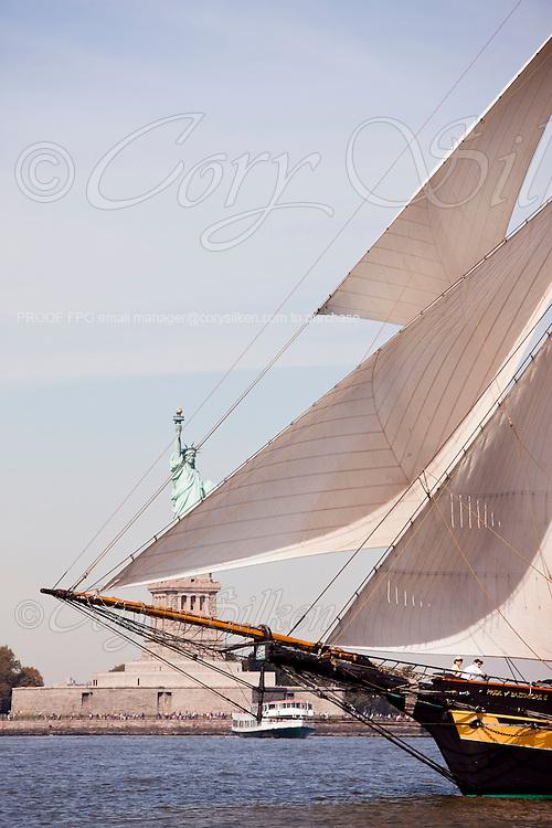 Pride of Baltimore II sailing in the New York Classic Week regatta.