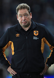 Hull City manager Leonid Slutsky appears dejected