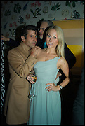 PETRA FAGRELL; ANDRE SARAIVA,  L, Sotheby's Frieze week party. New Bond St. London. 15 October 2014.