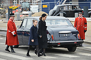20.02.2018. Copenhagen, Denmark. <br /> Crown Princess Mary, Princess Isabella arrive to Christiansborg Palace Church. <br /> Photo: Ricardo Ramirez.