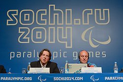 IPC Press Conference at the 2014 Sochi Winter Paralympic Games, Russia