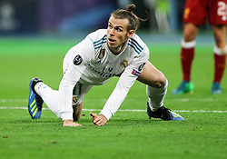Gareth Bale of Real Madrid after he scored second goal for Real Madrid during the UEFA Champions League final football match between Liverpool and Real Madrid at the Olympic Stadium in Kiev, Ukraine on May 26, 2018. Photo by Andriy Yurchak / Sportida