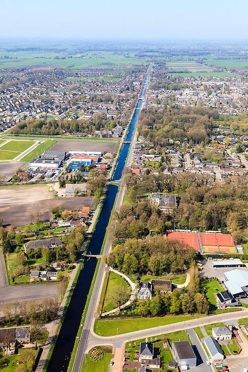 Nederland, Overijssel, Dedemsvaart, 01-05-2013; overzicht vanuit het Oosten met<br /> zicht op de Hoofdvaart.<br /> Overview with main canal, former peat canal.<br /> luchtfoto (toeslag op standard tarieven);<br /> aerial photo (additional fee required);<br /> copyright foto/photo Siebe Swart