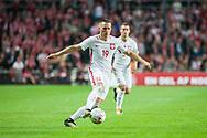 01.09.2017. Copenhagen, Denmark. <br /> Piotr Zielinski (19) from Poland during the FIFA 2018 World Cup Qualifier between Denmark and Poland at Parken Stadion.<br /> Photo: © Ricardo Ramirez.
