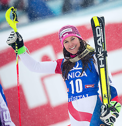 29.12.2014, Hohe Mut, Kühtai, AUT, FIS Ski Weltcup, Kühtai, Slalom, Damen, 2. Durchgang, im Bild Wendy Holdener (SUI) // Wendy Holdener of Switzerland reacts after 2nd run of Ladies Giant Slalom of the Kuehtai FIS Ski Alpine World Cup at the Hohe Mut Course in Kuehtai, Austria on 2014/12/29. EXPA Pictures © 2014, PhotoCredit: EXPA/ JFK