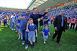 Birmingham City Manager Gary Monk during a lap of honour at the end of the the Sky Bet Championship season at St Andrew's Stadium Birmingham.