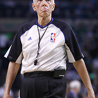 01 April 2012: Referee Richard T. Dick Bavetta is seen during the Boston Celtics 91-72 victory over the Miami Heat at the TD Banknorth Garden, Boston, Massachusetts, USA. NOTE TO USER: User expressly acknowledges and agrees that, by downloading and or using this photograph, User is consenting to the terms and conditions of the Getty Images License Agreement. Mandatory Credit: 2012 NBAE (Photo by Chris Elise/NBAE via Getty Images)