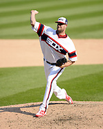 CHICAGO - SEPTEMBER 10:  Chris Volsted #66 of the Chicago White Sox pitches against the San Francisco Giants on September 10, 2017 at Guaranteed Rate Field in Chicago, Illinois.  The White Sox defeated the Giants 8-1.  (Photo by Ron Vesely) Subject:   Chris Volsted
