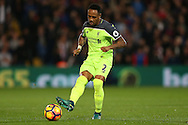 Nathaniel Clyne of Liverpool in action. Premier League match, Crystal Palace v Liverpool at Selhurst Park in London on Saturday 29th October 2016.<br /> pic by John Patrick Fletcher, Andrew Orchard sports photography.