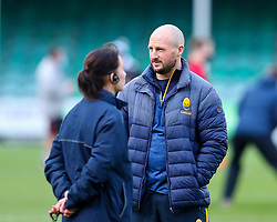 Worcester Warriors Women Forwards Coach Mike Hill talks to Worcester Warriors Women Director of Rugby Jo Yapp - Mandatory by-line: Nick Browning/JMP - 20/12/2020 - RUGBY - Sixways Stadium - Worcester, England - Worcester Warriors Women v Harlequins Women - Allianz Premier 15s
