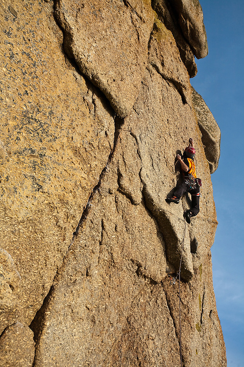 Toru Nakajima climbing 'Pinch The Egyptian' E6 6c Sennen, Cornwall, England
