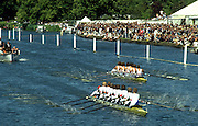 Peter Spurrier Sports  Photo<br />email pictures@rowingpics.com<br />Tel 44 (0) 7973 819 551<br />Photo Peter Spurrier<br />Henley Royal Regatta<br />Grand Challege final <br />Dortmund (German National Eight) v Leander (GB National Eight)<br />Umpire Peter Coni Chairman Henley Royal Regatta