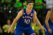 WACO, TX - JANUARY 7: Sviatoslav Mykhailiuk #10 of the Kansas Jayhawks defends against the Baylor Bears on January 7, 2015 at the Ferrell Center in Waco, Texas.  (Photo by Cooper Neill/Getty Images) *** Local Caption *** Sviatoslav Mykhailiuk