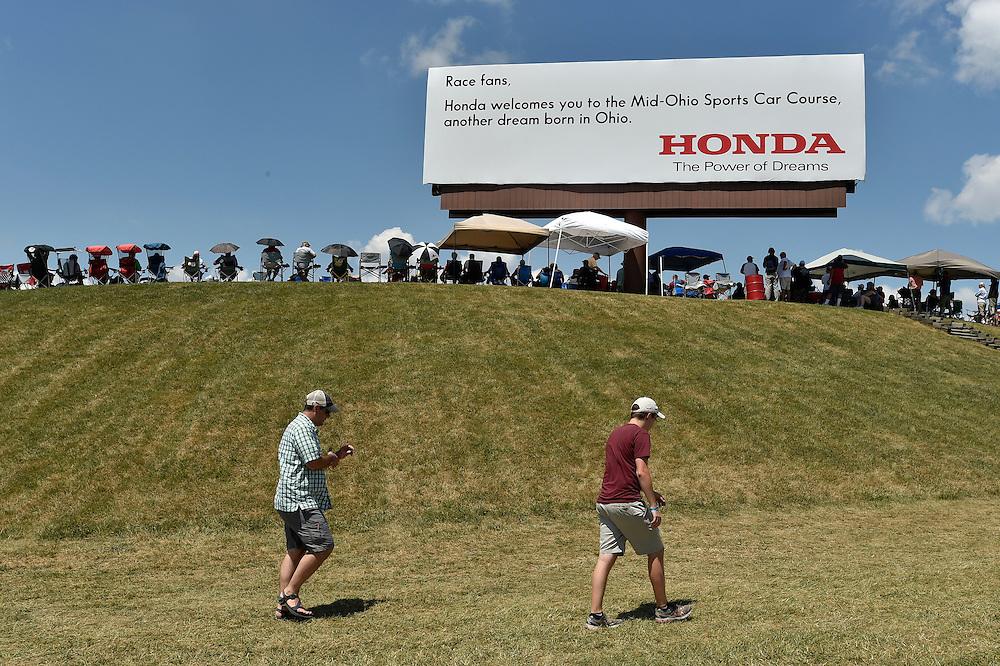 29-31 July, 2016, Lexington, Ohio USA<br /> Honda signage, atmosphere<br /> ©2016, Scott R LePage <br /> LAT Photo USA