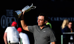 July 22, 2018 - Angus, XSC - Italy's Francesco Molinari with the Claret Jug after winning The Open Championship 2018 at Carnoustie Golf Links on Sunday, July 22, 2018 in Carnoustie, Scotland. (Credit Image: © Jane Barlow/TNS via ZUMA Wire)