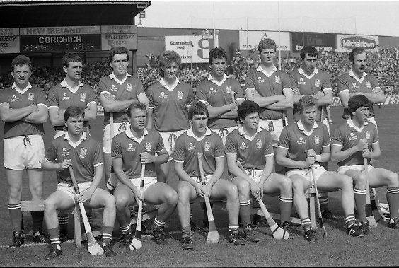 All Ireland Hurling Finals.1986..07.09.1986..09.07.1986..7th September 1986..September,every year,is the highlight of the GAA calendar with The All Ireland Finals being held in both codes. The senior and minor finals in each code are both played for on the same day. Each finalist has battled through provinical and knock out stages to reach the final.It is widely regarded as the pinnacle of a players career to reach and win an All Ireland Championship..In this years hurling finals,Cork played Offaly in the minor championship and a much fancied Galway team took on Cork in the senior final. Both matches were well fought and close encounters...In the senior hurling final Cork emerged victorious with a score of 4.13 (25) to Galways' 2.15 (21). .Photograph of the Cork senior hurling team,goalkeeper Ger Cunningham is absent from the picture...