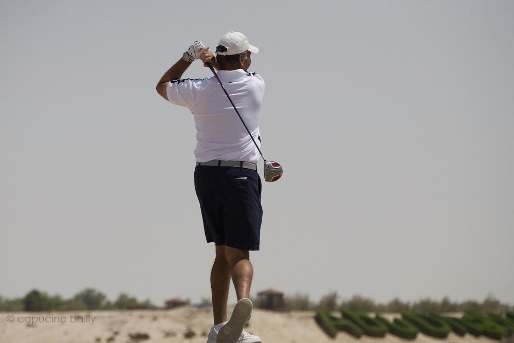 Abu Dhabi, United Arab Emirates (UAE). .March 20th 2009..Al Ghazal Golf Club..36th Abu Dhabi Men's Open Championship..Dennis Cox