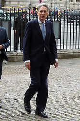 © Licensed to London News Pictures. 20/06/2019. London, UK. Chancellor of the Exchequer Phillip Hammond attends a Service of Thanksgiving for Lord Haywood at Westminster Abbey. Jeremy Heywood served as Cabinet Secretary from 2012 and Head of the Home Civil Service until shortly before his death in 2018. Photo credit: Ray Tang/LNP