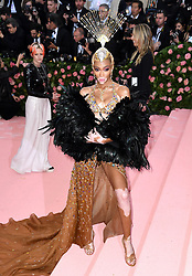 """Winnie Harlow at the 2019 Costume Institute Benefit Gala celebrating the opening of """"Camp: Notes on Fashion"""".<br />(The Metropolitan Museum of Art, NYC)"""