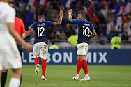 goal 1-1 Kylian Mbappe of France and Corentin Tolisso of France during the 2018 Friendly Game football match between France and USA on June 9, 2018 at Groupama stadium in Decines-Charpieu near Lyon, France - Photo Romain Biard / Isports / ProSportsImages / DPPI