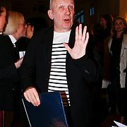 NLD/Rotterdam/20130209 - De Franse modeontwerper Jean Paul Gaultier opent zijn tentoonstelling in de Kunsthal Rotterdam,