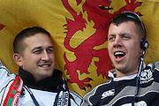 15.02.2015. Edinburgh. RBS 6 Nations 2015 Scotland v Wales. Scottish fans  from Murrayfield Stadium, Edinburgh.