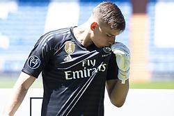 July 23, 2018 - Madrid, Spain - Andriy Lunin during his presentation as new Real Madrid goalkeeper at Santiago Bernabéu Stadium in Madrid, Spain. July 23, 2018. (COOLMEDIA/BorjaB.Hojas) (Credit Image: © Coolmedia/NurPhoto via ZUMA Press)