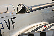 Fueselage of a P-51D Mustang, during an exhibit at Atlanta's PDK airfield.  Owned/operated by the Dixie Wing of the Commemorative Air Force.