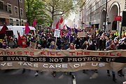 Thousands of people march in central London as well as the rest of the UK, in protest of the Police, Crime, Sentencing and Courts bill on 1st May 2021 in London, United Kingdom. The controversial piece of legislation would give the police more power to break up demonstrations and make arrests at such events.