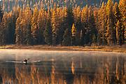Paddling on Seeley Lake, Montana.