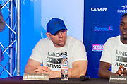 Jason spencer (usa) during the official weighing and press conference before the heavyweight boxing bout between Tony Yoka (FRA) and Cyril Leonet (FRA) on April 6, 2018 in Boulogne-Billancourt, France - Photo Pierre Charlier / ProSportsImages / DPPI
