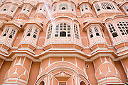 India, Rajasthan, Jaipur, Hawa Mahal Palace of the Winds built in 1799