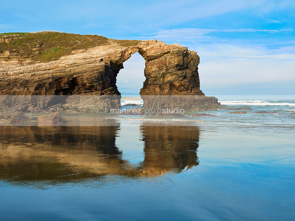 Beach of the Cathedrals Natural Monument at Ribadeo,Galicia, Spain