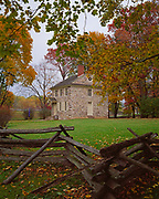 The Isaac Potts House, George Washington's Headquarters during the winter of 1777-78 in America's War for Independence, Valley Forge National Historical Park, Pennsylvania.