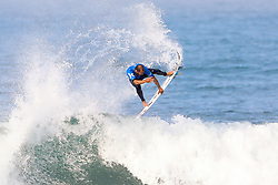Jadson Andre of Brazil advances to Round Three of the 2017 Hurley Pro Trestles after defeating local favourite Kolohe Andino of the USA in Heat 5 of Round Two at Huntington Beach, CA, USA.