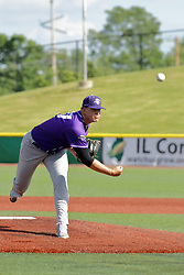28 May 2017: Josh Heddinger during a Frontier League Baseball game between the Lake Erie Crushers and the Normal CornBelters at Corn Crib Stadium on the campus of Heartland Community College in Normal Illinois