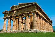 ITALY, GREEK CULTURE, Paestum; Doric Temple of Neptune