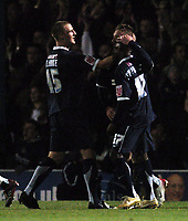 Photo: Olly Greenwood.<br />Southend United v Manchester United. Carling Cup. 07/11/2006. Southend's Freddy Eastwood celebrates scoring