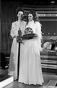 07/01/1969.01/07/1969.07 January 1969.Eurofashion Final at Shelbourne Hotel. The Irish section of the 1969 Eurofashion Contest judged by John McGuire, Miss Leonora Currie and Mrs Nuala Mc Laughlin. Pictured are winner Colette Dowling (21) Kincora Road, Clontarf, (right) and model Liz Willoughby, wearing one of Miss Dowling's winning outfits.