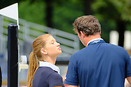 Jennifer Gates and Harrie Smolders during the Longines Paris Eiffel Jumping 2018, on July 5th to 7th, 2018 at the Champ de Mars in Paris, France - Photo Christophe Bricot / ProSportsImages / DPPI