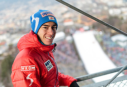 02.01.2016, Bergisel Schanze, Innsbruck, AUT, FIS Weltcup Ski Sprung, Vierschanzentournee, Qualifikation, im Bild Stefan Kraft (AUT) // Stefan Kraft of Austria during his Qualification Jump for the Four Hills Tournament of FIS Ski Jumping World Cup at the Bergisel Schanze, Innsbruck, Austria on 2016/01/02. EXPA Pictures © 2016, PhotoCredit: EXPA/ JFK
