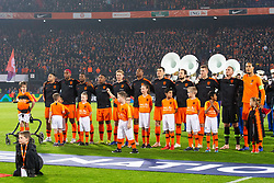 ing oranjevriendjes line up, lineup, child during the UEFA Nations League A group 1 qualifying match between The Netherlands and France at stadium De Kuip on November 16, 2018 in Rotterdam, The Netherlands