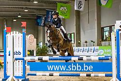 De Coninck Fien, BEL, Olly Jumper van de Leeuw<br /> Nationaal Indoor Kampioenschap Pony's LRV <br /> Oud Heverlee 2019<br /> © Hippo Foto - Dirk Caremans<br /> 09/03/2019