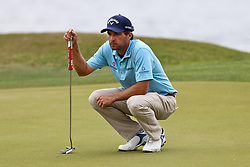 March 29, 2019 - Austin, Texas, United States - Kevin Kisner lines up a putt on the 14th green during the third round of the 2019 WGC-Dell Technologies Match Play at Austin Country Club. (Credit Image: © Debby Wong/ZUMA Wire)