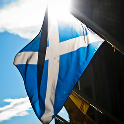 Scottish Saltire and Lion Rampart flags