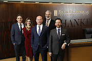 SHOT 1/8/19 12:13:26 PM - Bachus & Schanker LLC lawyers James Olsen, Maaren Johnson, J. Kyle Bachus, Darin Schanker and Andrew Quisenberry in their downtown Denver, Co. offices. The law firm specializes in car accidents, personal injury cases, consumer rights, class action suits and much more. (Photo by Marc Piscotty / © 2018)