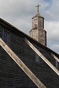 Church of Quinchao roof on Chiloe Island, Chile